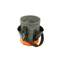 Canvas Tool Bucket with Four External Pockets